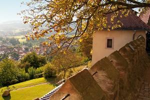 Blick nach Reichelsheim von Schloss Reichenberg